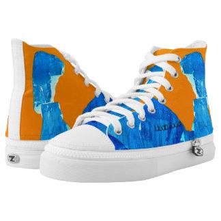 Moab Rocks Pop Art High Tops Unisex Blue Orange