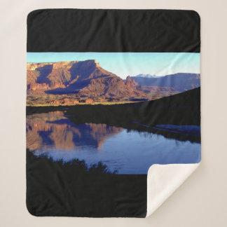 Moab Utah Sherpa Blanket