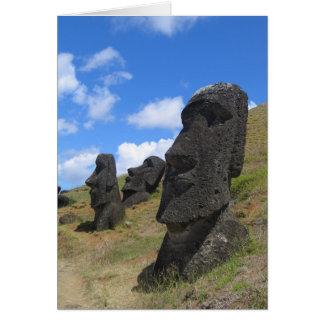 Moai at Rano Raraku, Easter Island Note Card