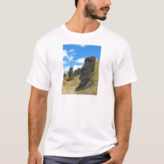 Moai at Rano Raraku Easter Island T-Shirt