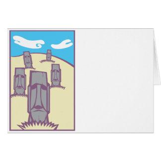 Moai on a Hill Card