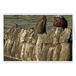 Moai statues Rapa Nui (Easter Island) Card