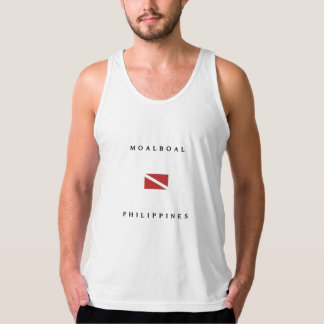 Moalboal Philippines Scuba Dive Flag Tank Top