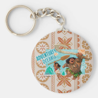 Moana | Adventures In Oceania Basic Round Button Keychain