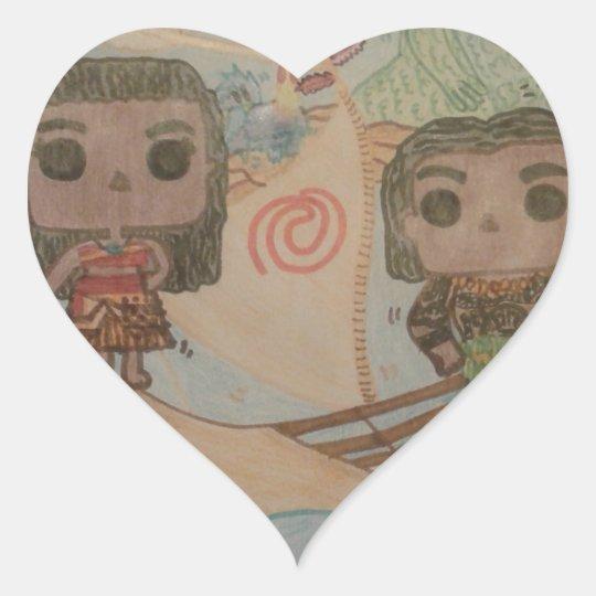 Moana and Maui Sticker Glitter