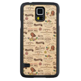 Moana   Bold Adventurer Pattern Carved Maple Galaxy S5 Case
