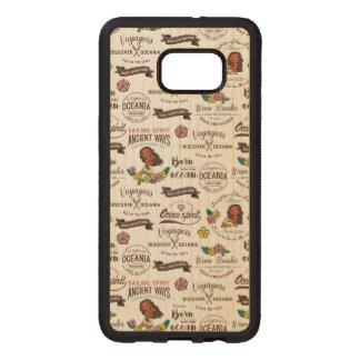 Moana | Bold Adventurer Pattern Wood Samsung Galaxy S6 Edge Case
