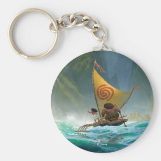 Moana | Discover Oceania Basic Round Button Keychain