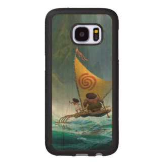 Moana   Discover Oceania Wood Samsung Galaxy S7 Case