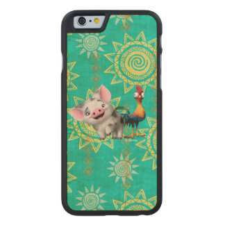 Moana   First Mate & Top Rooster Carved Maple iPhone 6 Case