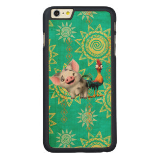 Moana | First Mate & Top Rooster Carved® Maple iPhone 6 Plus Case