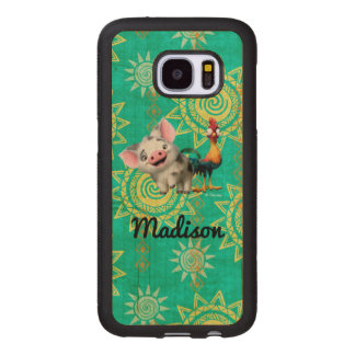 Moana | First Mate & Top Rooster Wood Samsung Galaxy S7 Case