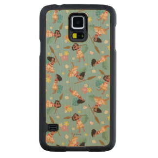 Moana | Floral Pattern Carved Maple Galaxy S5 Case