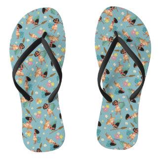 Moana | Floral Pattern Flip Flops