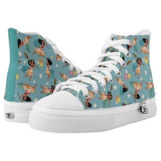 Moana | Floral Pattern High Tops