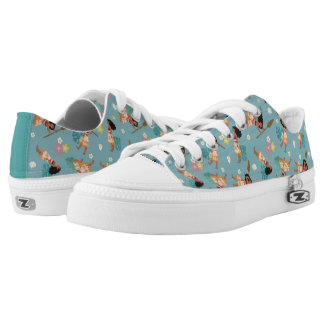 Moana | Floral Pattern Low-Top Sneakers