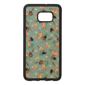 Moana | Floral Pattern Wood Samsung Galaxy S6 Edge Case