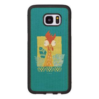 Moana   Heihei - I'm In Charge Here Wood Samsung Galaxy S7 Edge Case
