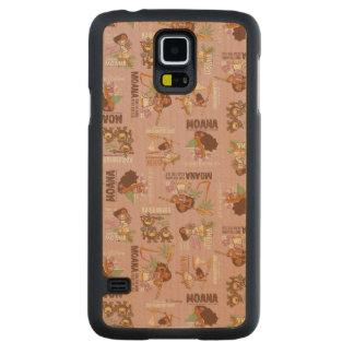 Moana & Kakamora Vintage Pattern Carved Maple Galaxy S5 Case