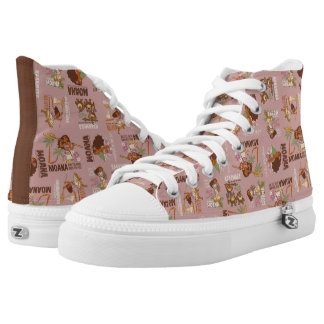 Moana & Kakamora Vintage Pattern High Tops