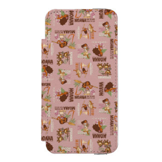 Moana & Kakamora Vintage Pattern Incipio Watson™ iPhone 5 Wallet Case