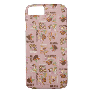 Moana & Kakamora Vintage Pattern iPhone 8/7 Case