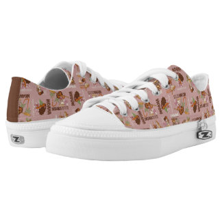 Moana & Kakamora Vintage Pattern Low-Top Sneakers