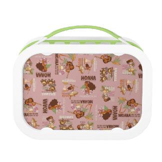 Moana & Kakamora Vintage Pattern Lunchboxes