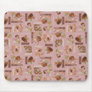 Moana & Kakamora Vintage Pattern Mouse Pad