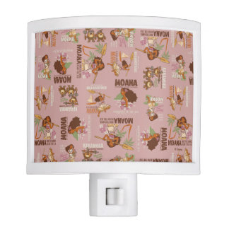 Moana & Kakamora Vintage Pattern Night Lights