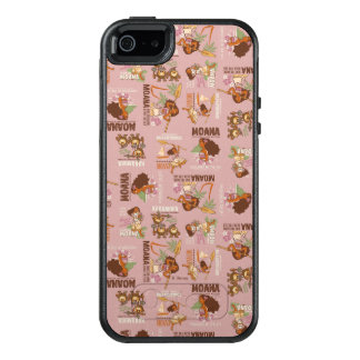 Moana & Kakamora Vintage Pattern OtterBox iPhone 5/5s/SE Case