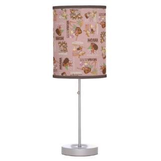 Moana & Kakamora Vintage Pattern Table Lamp