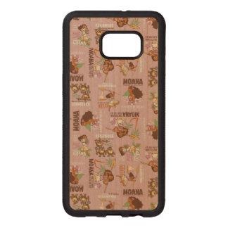 Moana & Kakamora Vintage Pattern Wood Samsung Galaxy S6 Edge Case