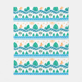 Moana | Land And Sea Are One - Pattern Fleece Blanket
