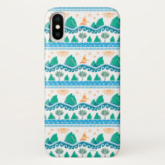 Moana | Land And Sea Are One - Pattern iPhone X Case