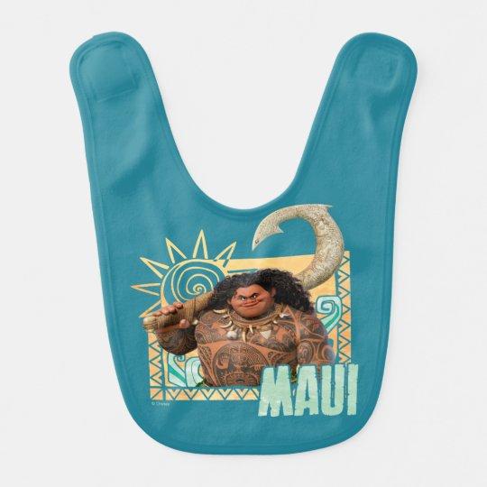 Moana   Maui - Original Trickster Baby Bib