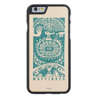 Moana | Maui - Wayfinder Carved Maple iPhone 6 Case