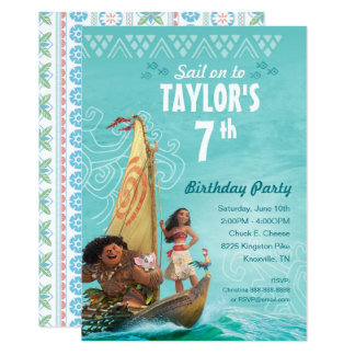 "Moana | Oceania Birthday 5"" X 7"" Invitation Card"
