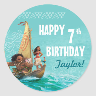 Moana | Oceanic Birthday Round Sticker