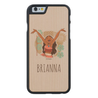 Moana | One With The Waves Carved Maple iPhone 6 Case