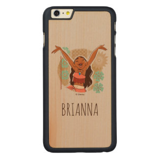 Moana | One With The Waves Carved® Maple iPhone 6 Plus Case