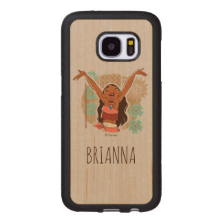 Moana | One With The Waves Wood Samsung Galaxy S7 Case