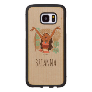 Moana | One With The Waves Wood Samsung Galaxy S7 Edge Case