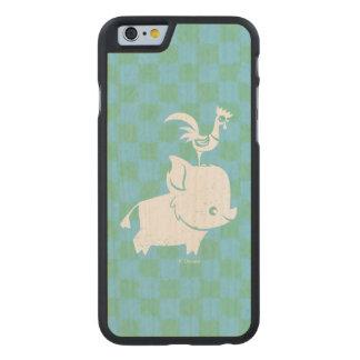 Moana   Pua & Heihei - Silhouette Carved Maple iPhone 6 Case
