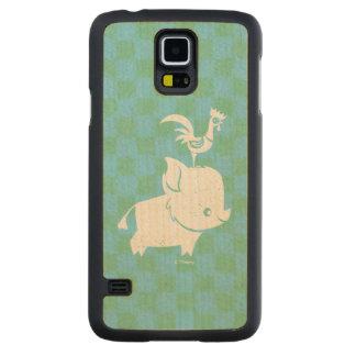 Moana | Pua & Heihei - Silhouette Maple Galaxy S5 Case