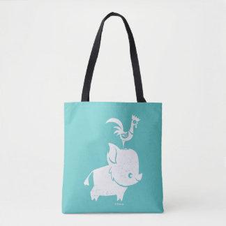 Moana   Pua & Heihei - Silhouette Tote Bag