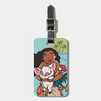 Moana   Pua & Heihei - Voyagers Luggage Tag