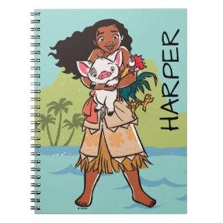 Moana   Pua & Heihei - Voyagers Spiral Notebook