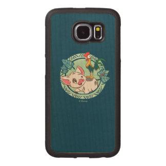 Moana   Pua & Heihei Voyagers Wood Phone Case