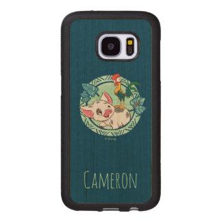 Moana | Pua & Heihei Voyagers Wood Samsung Galaxy S7 Case